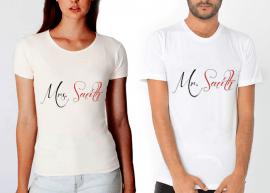 mr,mrs,smith,eğlenceli,hardal,tişört,tshirt,beyaz,orjinal
