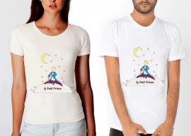 küçük prens,masal,kahramanı,tişört,tshirt,beyaz