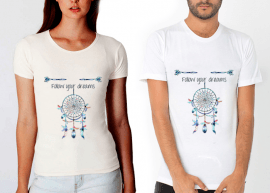 follow your dreams beyaz tshirt tişört
