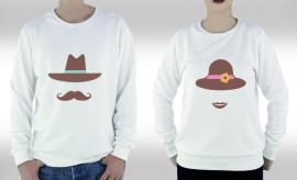 MR and MRS Sweatshirt
