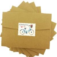 kartpostal - Mavi Bisiklet