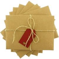 kartpostal - Kırmızı Etiketli & İpli Kraft