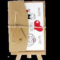 13x18 Kartpostal - Açık Davetiye Zarfı - 13x18-Kraft -  İpli, Kraft Etiketli