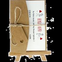 kartpostal - Açık Davetiye Zarfı - Kartpostal-Kraft -  İpli, Kraft Etiketli