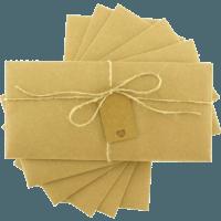 dikdörtgen - Etiketli & İpli Kraft