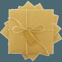 kare - Kraft Etiketli & İpli Kraft