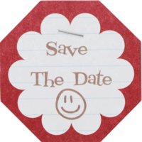 Save The Date Etiket