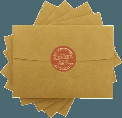 13x18 gerçek aşk etiketli kraft davetiye zarfı