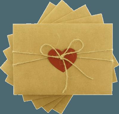 13x18 kımızı kalpli ipli davetiye  zarfı