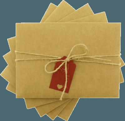 13x18 Kırmızı Etiketli İpli Zarf