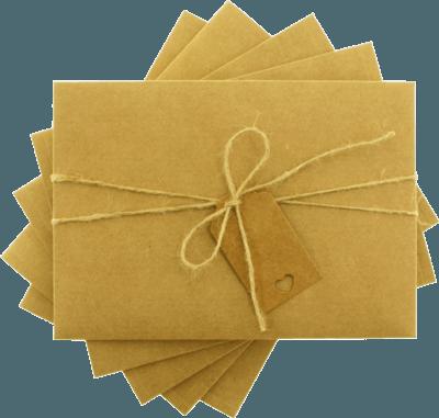 13x18 kraft etiketli ipli davetiye zarfı