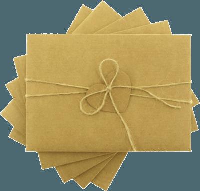 13x18  kraft kalpli davetiye zarfı