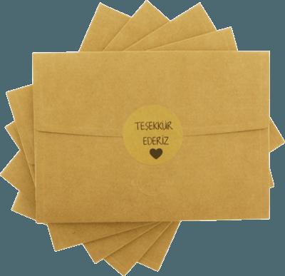 13x18 Teşekkür ederiz Davetiye Zarfı