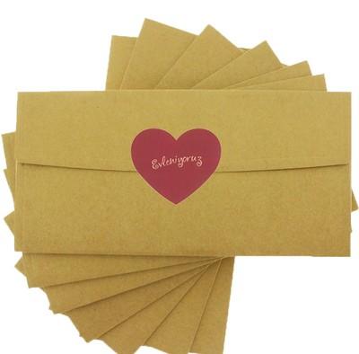 Evleniyoruz Etiketli Davetiye Zarfı