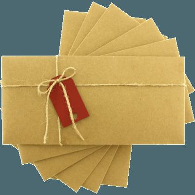 Kraft Etiketli Davetiye Zarfları zarf