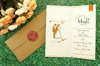 Romantik düğün davetiyesi
