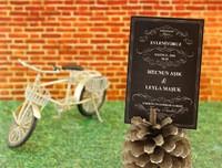 Aşk Bulundu düğün davetiyesi