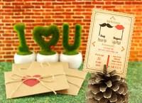 Aşk Kutlaması düğün davetiyesi