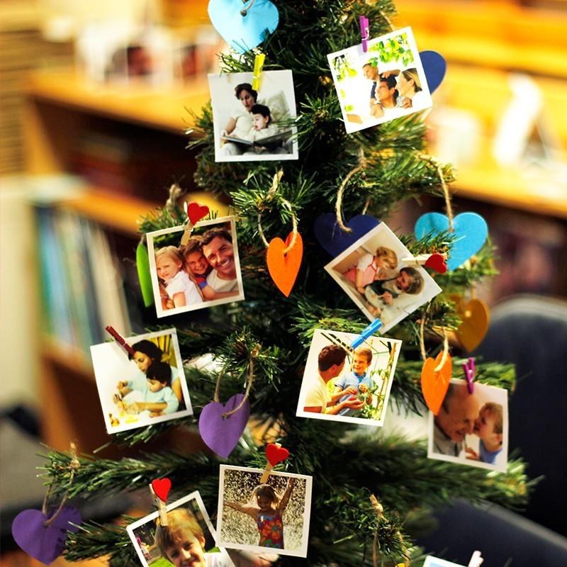 Fotoğraflı Yılbaşı Ağacı